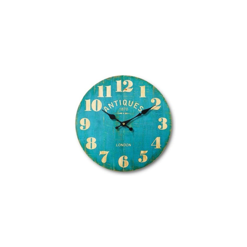 Medium Teal Antique Restaurant Clock