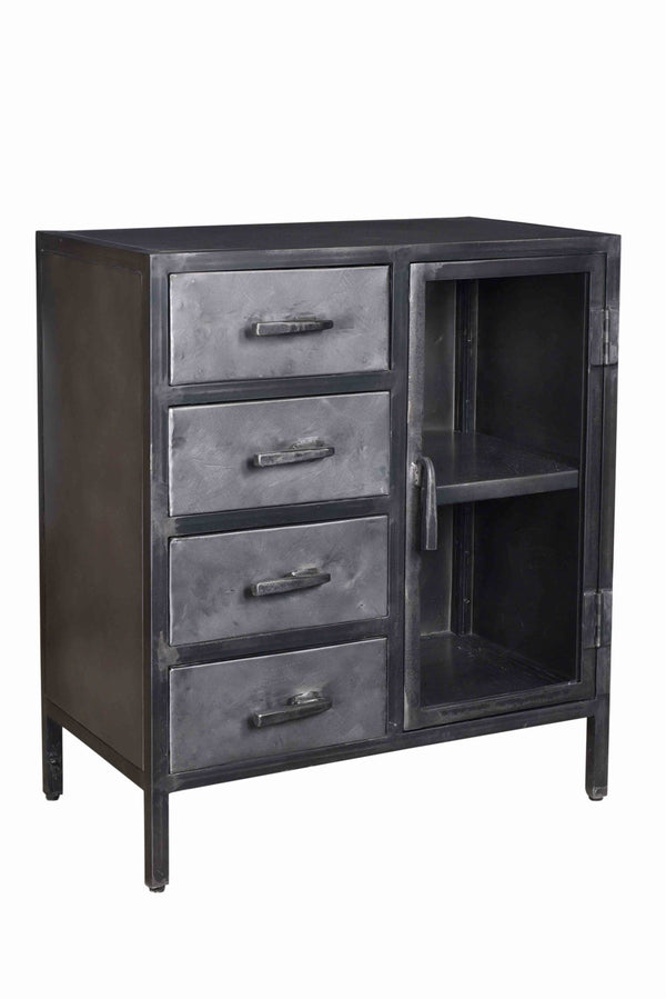 ANCASTER 1-GLASS DOOR 4-DRAWER SIDEBOARD
