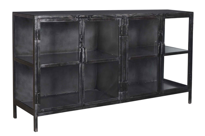 TIFFANY 4-GLASS DOOR SIDEBOARD