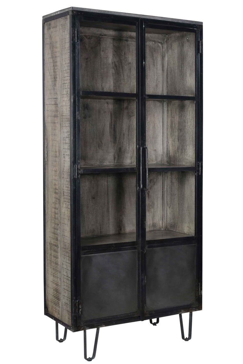 NEWARK 2-GLASS DOOR CABINET