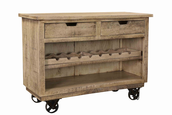 SHELBURNE 2-DRAWER WINE RACK CABINET