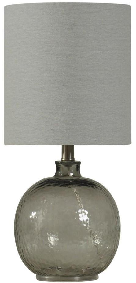 CORNERSTONE HOME INTERIORS - LIGHTING - CARAC GLASS TABLE LAMP