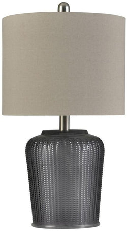 CORNERSTONE HOME INTERIORS - LIGHTING - SLATE GLASS TABLE LAMP