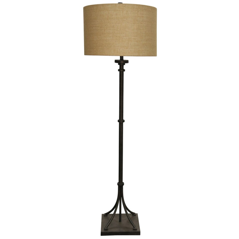 BRONZE WITH IRON BASE FLOOR LAMP