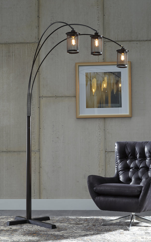 Maovesa Bronze Metal Arc Floor Lamp