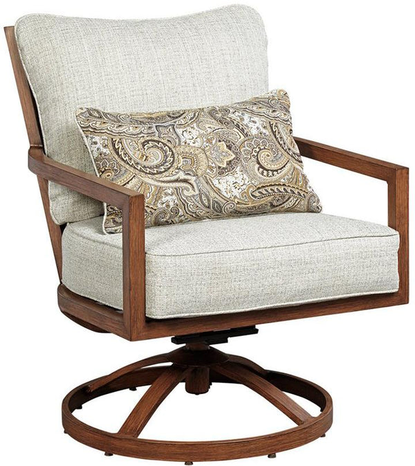 CORNERSTONE HOME INTERIORS - ZORANNE SWIVEL LOUNGE CHAIR