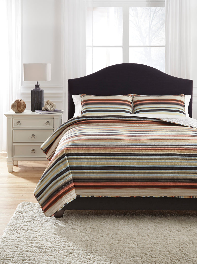 CORNERSTONE HOME INTERIORS - BEDDING - WILEY QUILT SET (KING)