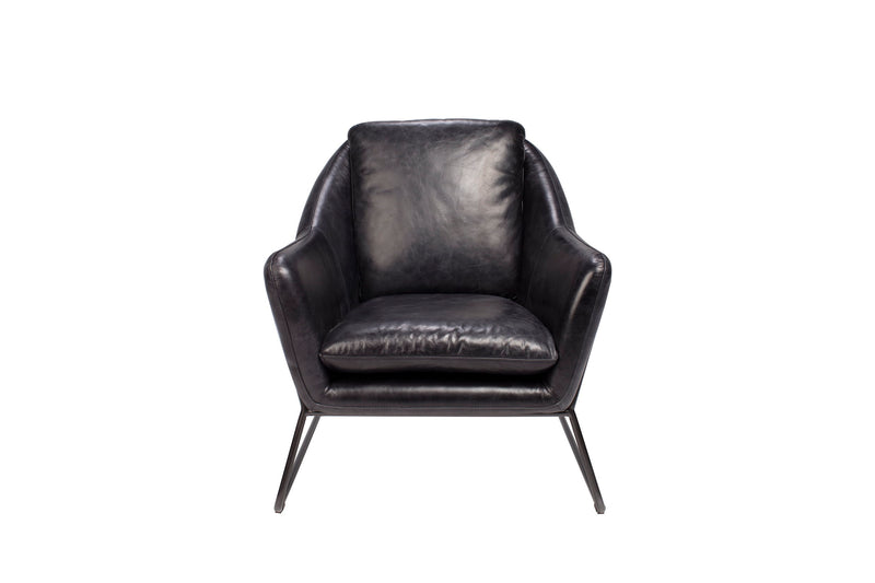 FRANCO BLACK LEATHER CHAIR