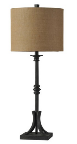 INDUSTRIAL BRONZE CAST IRON TABLE LAMP