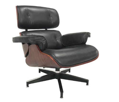 EAMES STYLE CHAIR AND OTTOMAN