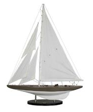 J-YACHT GREY SAILBOAT