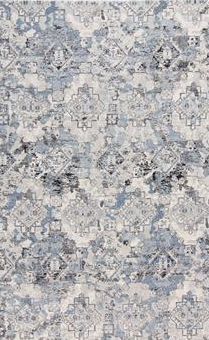 AINSLEY RUG IN BLUE/TAN