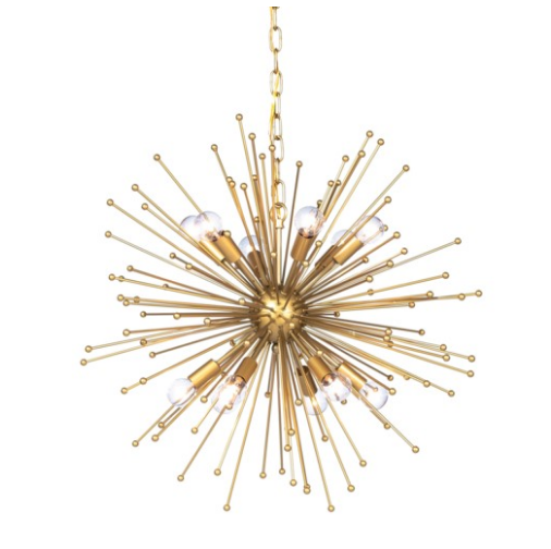 ARCHER CHANDELIER, LARGE (GOLD)