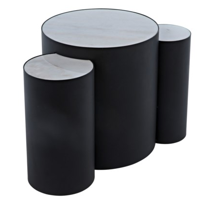 COCO SIDE TABLE, MATTE BLACK