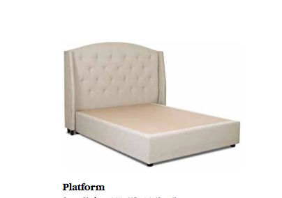 HARVARD QUEEN BED W/PLATFORM