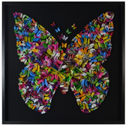 PAPILLON FRAMED ART