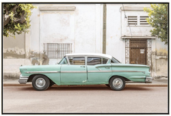 CUBAN CAR, GREEN AND WHITE I