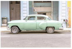 GREEN CUBAN CAR