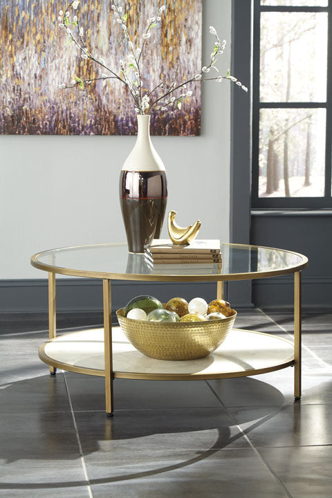 BRITZWALD ROUND COCKTAIL TABLE