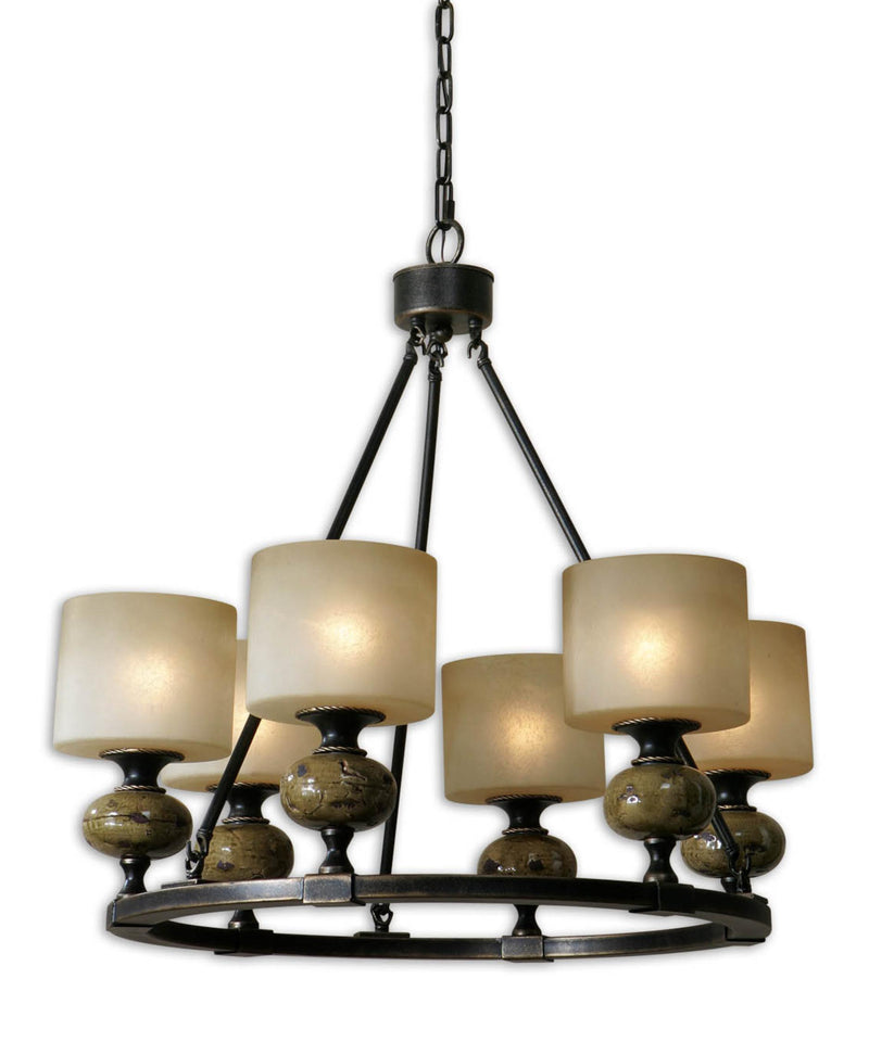 CORNERSTONE HOME INTERIORS - PORANO CHANDELIER