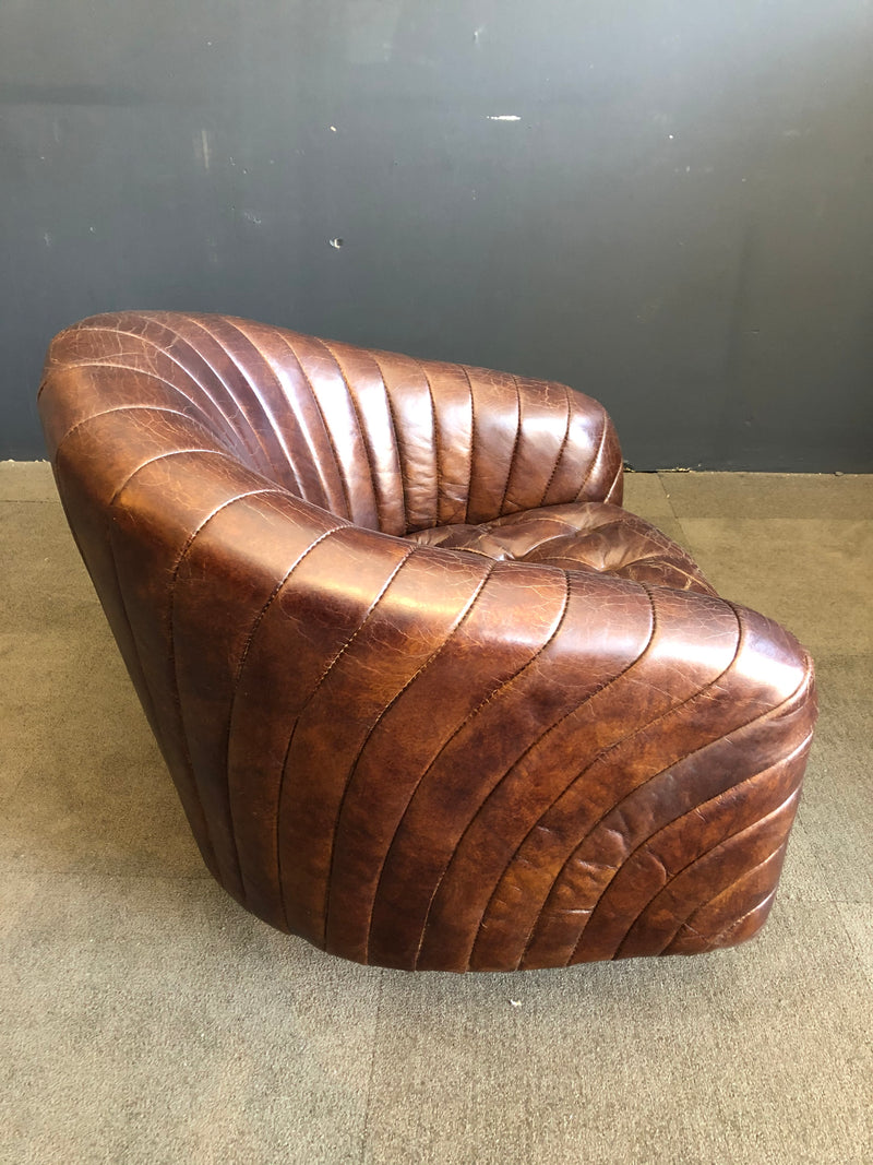 PORTER SWIVEL LEATHER CHAIR