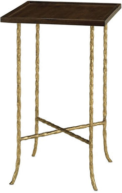 CORNERSTONE HOME INTERIORS - ACCENT - GILT TWIST ACCENT TABLE