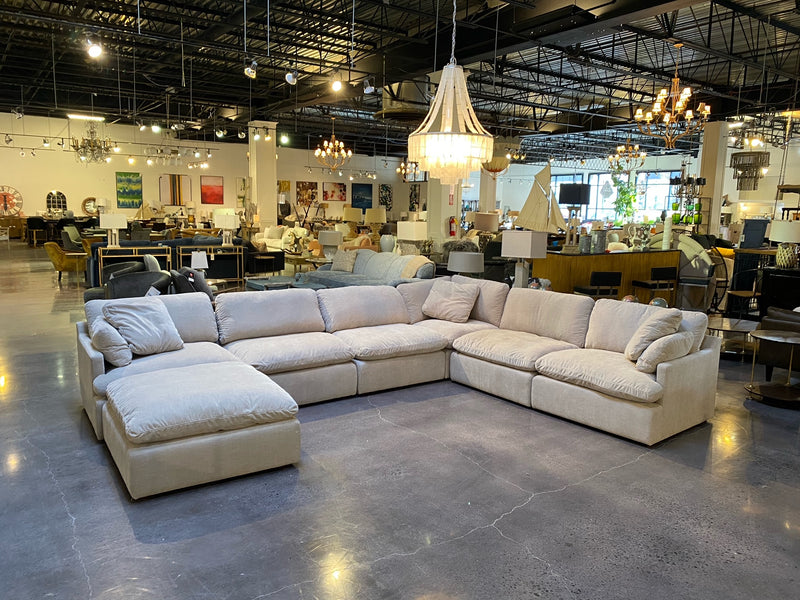 BENEDICT 6 PIECE SECTIONAL W/OTTOMAN