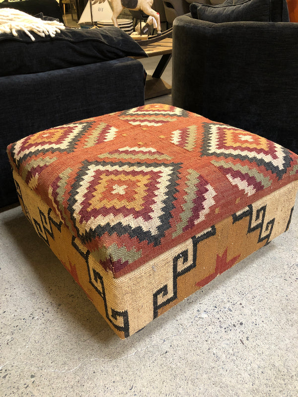 KILIM OTTOMAN WITH STORAGE