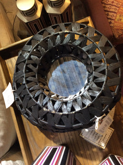 DARK NATURAL WOVEN MIRROR
