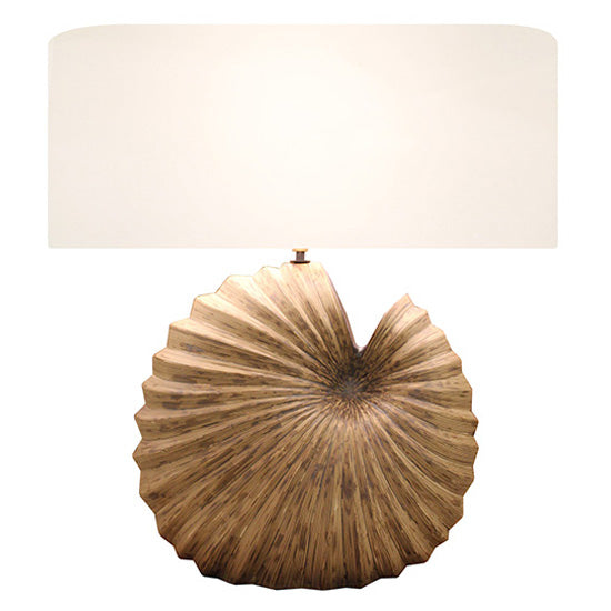 CORNERSTONE HOME INTERIORS - CERAMIC NATURAL SHELL LAMP