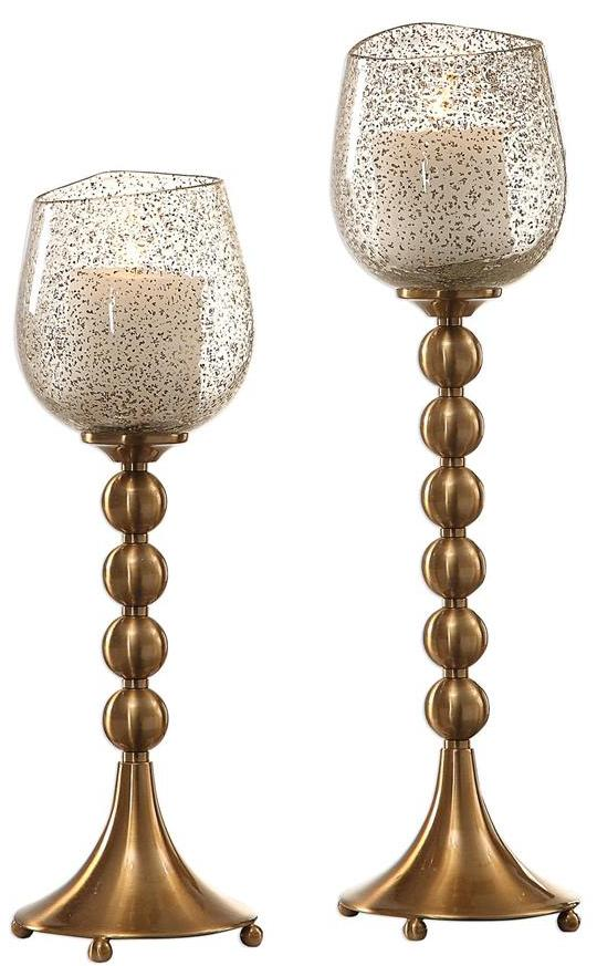 CORNERSTONE HOME INTERIORS - ELIANNA CANDLEHOLDERS (SET OF 2)
