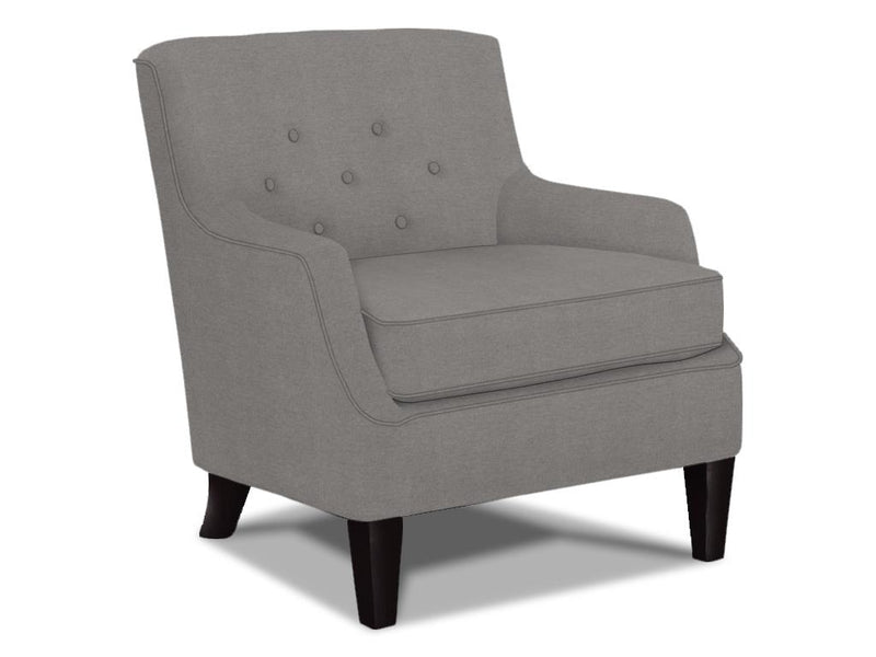 CORNERSTONE HOME INTERIORS - CECIL CLUB CHAIR (CEMENT FABRIC)
