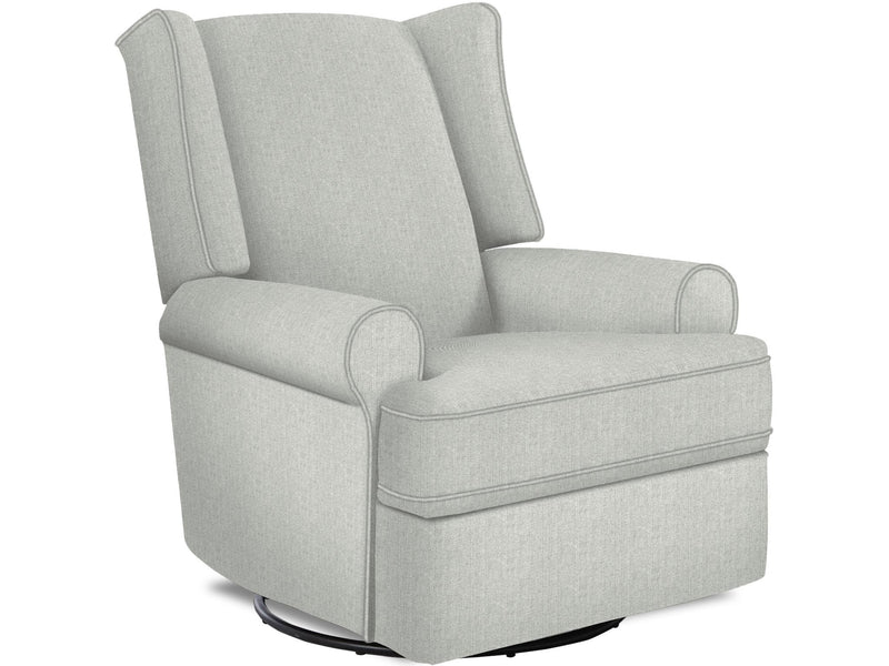 CORNERSTONE HOME INTERIORS - LOGAN SWIVEL RECLINER CHAIR (MINT GREEN FABRIC)