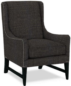 CORNERSTONE HOME INTERIORS - MILLER CHAIR (IN MIDNIGHT FABRIC)