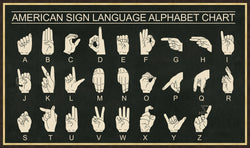 CORNERSTONE HOME INTERIORS - WALL ART - AMERICAN SIGN LANGUAGE ALPHABET