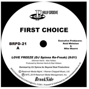 "FIRST CHOICE - LOVE FREEZE 12"" (BROOKSIDE)"