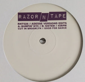 "ADESSE VERSIONS - EDITS 12"" (RAZOR-N-TAPE)"