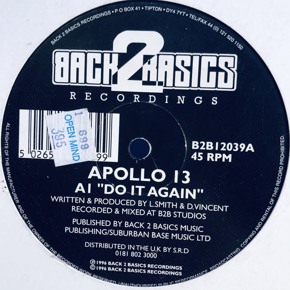 APOLLO 13 - DO IT AGAIN / LET IT ROLL 12