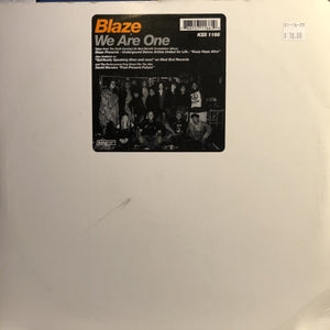 "BLAZE - WE ARE ONE 12"" (KING STREET SOUNDS)"