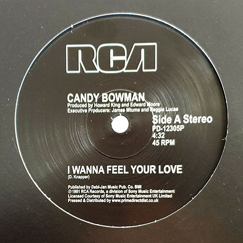 CANDY BOWMAN - I WANNA FEEL YOUR LOVE 12