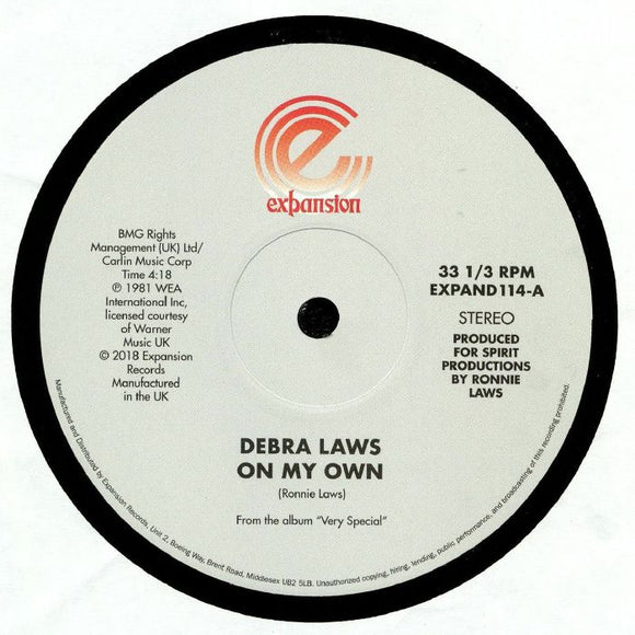 DEBRA LAWS - ON MY OWN & VERY SPECIAL 12