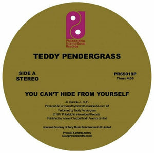 "TEDDY PENDERGRASS - YOU CAN'T HIDE FROM YOURSELF 12"" (PHILADELPHIA INTERNATIONAL)"