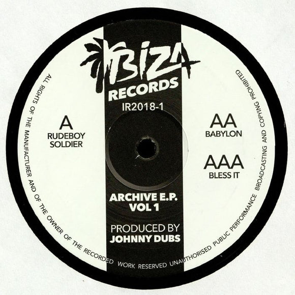 JOHNNY DUBS - ARCHIVE VOL 1 12