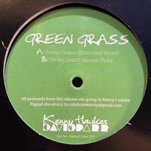 "KENNY HAWKES & DAVID PARR - GREEN GRASS 12"" (KENNY'S LAW)"