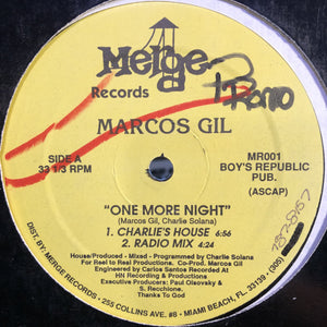 "MARCOS GIL - ONE MORE NIGHT 12"" (MERGE RECORDS)"