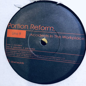 "PORTION REFORM - ACCIDENTS IN THE WORKPLACE 12"" (DOWNWARDS)"