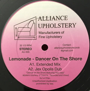 "LEMONADE - DANCER ON THE SHORE 12"" (ALLIANCE UPHOLSTERY)"