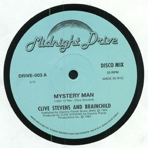 "CLIVE STEVENS & BRAINCHILD - MYSTERY MAN 12"" (MIDNIGHT DRIVE)"