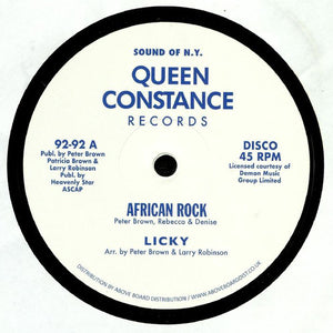 "LICKY - AFRICAN ROCK 12"" (QUEEN CONSTANCE)"
