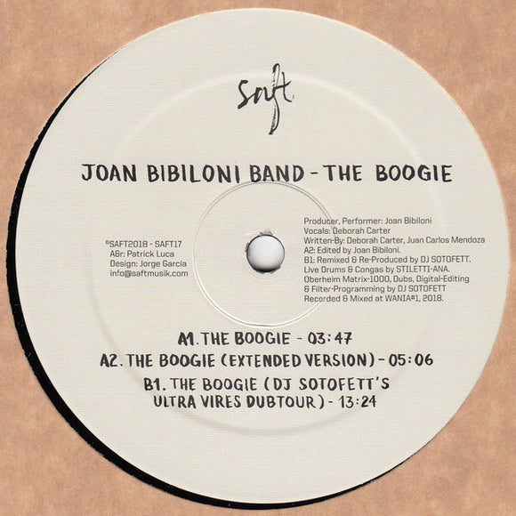 JOAN BIBLIONI BAND - THE BOOGIE 12